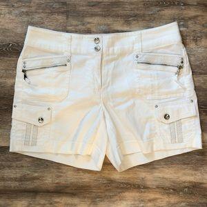 White House Black Market | bright white shorts 10